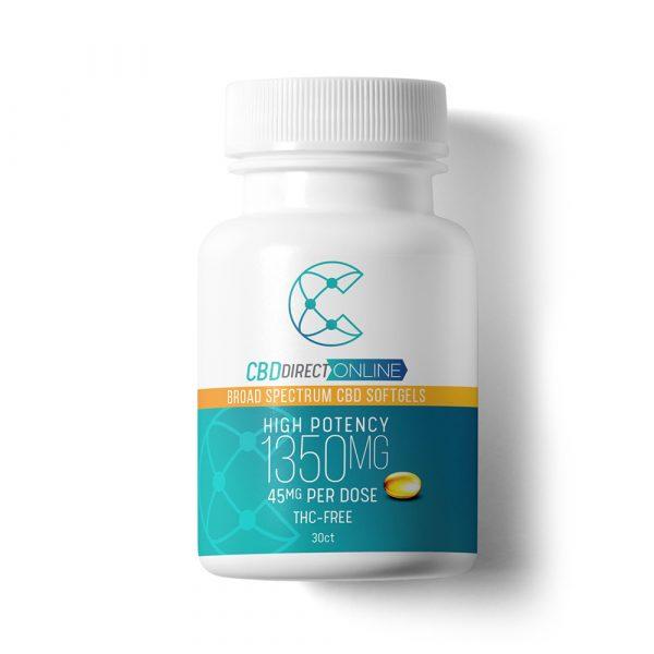 CBD Direct Online High Potency CBD Softgels